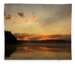 Colored Clouds Fleece Blanket