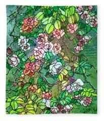 Colored Rose Garden Fleece Blanket