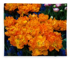 Colorful Carpet Of Flowers. Keukenhof 2014. Netherlands Fleece Blanket