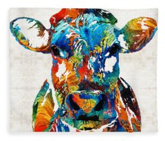 Wyoming Paintings Fleece Blankets