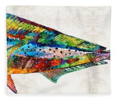 Colorful Dolphin Fish By Sharon Cummings Fleece Blanket