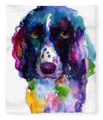Watercolor Pet Portraits Fleece Blankets