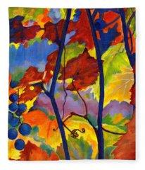 October Colors Fleece Blanket