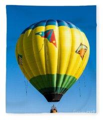 Colorful Hot Air Balloon Over Vermont Fleece Blanket