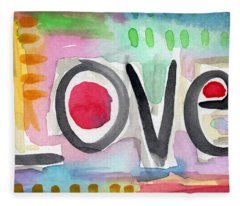 Colorful Love- Painting Fleece Blanket