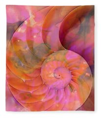 Colorful Nautilus Shell By Sharon Cummings Fleece Blanket