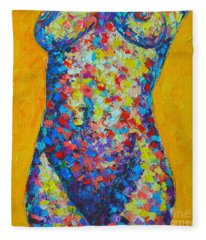 Colorful Nude  Fleece Blanket