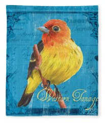 Colorful Songbirds 4 Fleece Blanket