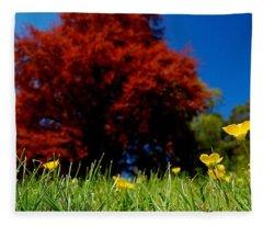 Colorful Spring Fleece Blanket