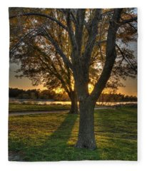 Colorful Sunset Fleece Blanket