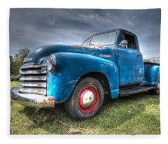 Colorful Workhorse - 1953 Chevy Truck Fleece Blanket