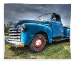 Colorful Workhorse - 1953 Chevy Truck Fleece Blanket