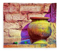 Colors And The Sun Fleece Blanket