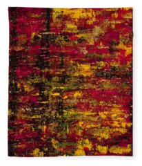 Fleece Blanket featuring the painting Colors Of Autumn by Darice Machel McGuire