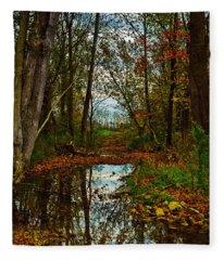 Colors Of Fall Fleece Blanket