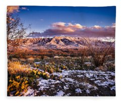 Colors Of Winter Fleece Blanket