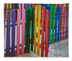 Colourful Caribbean Fence Fleece Blanket