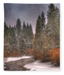 Colours Of Winter Fleece Blanket