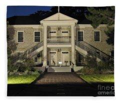 Colton Hall At Night Fleece Blanket