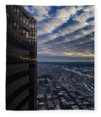 Columbia Center Skies Reflected Fleece Blanket