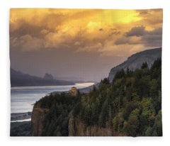 Columbia River Gorge Vista Fleece Blanket