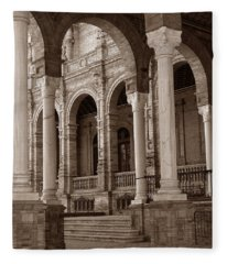 Columns And Arches Fleece Blanket
