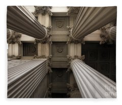 Columns At The National Archives In Washington Dc Fleece Blanket