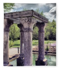 Columns In The Water Fleece Blanket