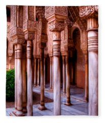 Columns Of The Court Of The Lions - Painting Fleece Blanket