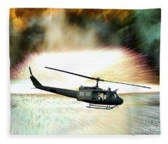 Combat Helicopter Fleece Blanket