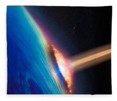 Satellite Image Fleece Blankets