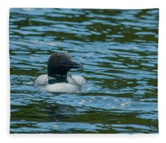 Common Loon Fleece Blanket