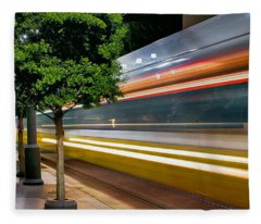 Dallas Commuter Train 052214 Fleece Blanket
