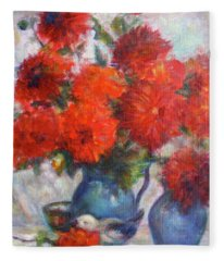Complementary - Original Impressionist Painting - Still-life - Vibrant - Contemporary Fleece Blanket
