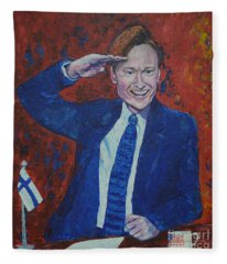 Conan O'brien Flagging Finland Fleece Blanket