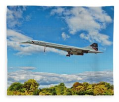 Concorde On Finals Fleece Blanket