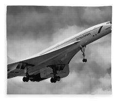 Concorde Supersonic Transport S S T Fleece Blanket