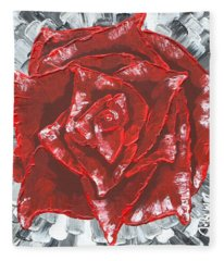 Concrete Rose  Fleece Blanket