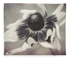Coneflower In Monochrome Fleece Blanket