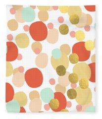 Confetti- Abstract Art Fleece Blanket