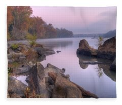 Congaree River At Dawn-1 Fleece Blanket