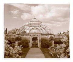 Conservatory- Sepia Fleece Blanket