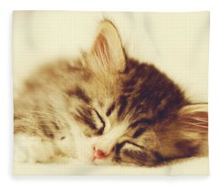 Content Kitty Fleece Blanket