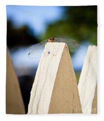 Cool Dude Dragonfly Fleece Blanket