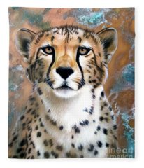 Copper Flash - Cheetah Fleece Blanket