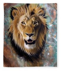 Copper Majesty - Lion Fleece Blanket