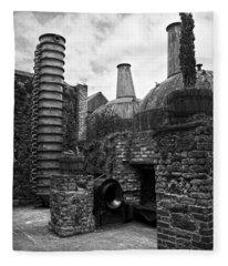 Copper Pot Stills And Column Still At Lockes Distillery Bw Fleece Blanket