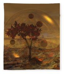 Copper Terrarium Fleece Blanket