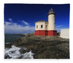 Coquille River Lighthouse 3 Fleece Blanket