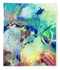 Coral Reef Dreams 2 Fleece Blanket